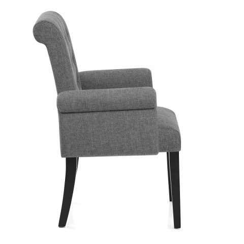 Packwood Dining Chair Charcoal Fabric