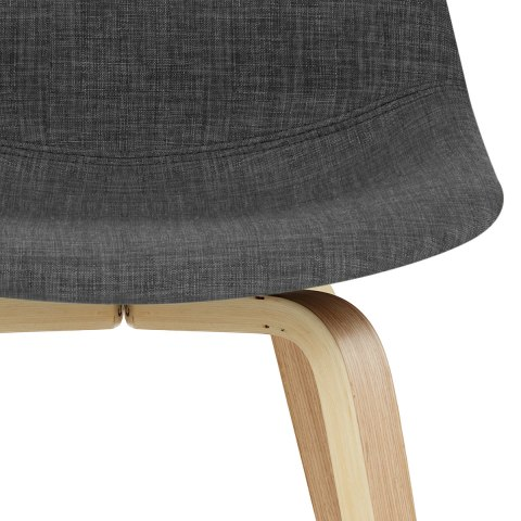 Reef Wooden Stool Charcoal Fabric