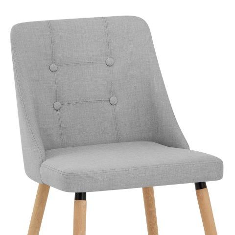 appleby dining chair light grey fabric atlantic shopping. Black Bedroom Furniture Sets. Home Design Ideas
