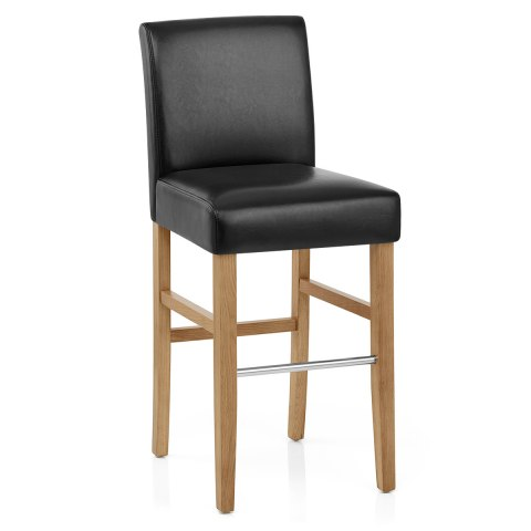 Purnell Oak Stool Black