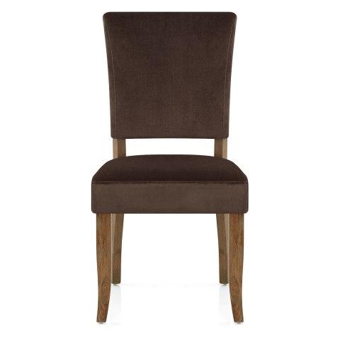 lincoln oak chair brown velvet atlantic shopping