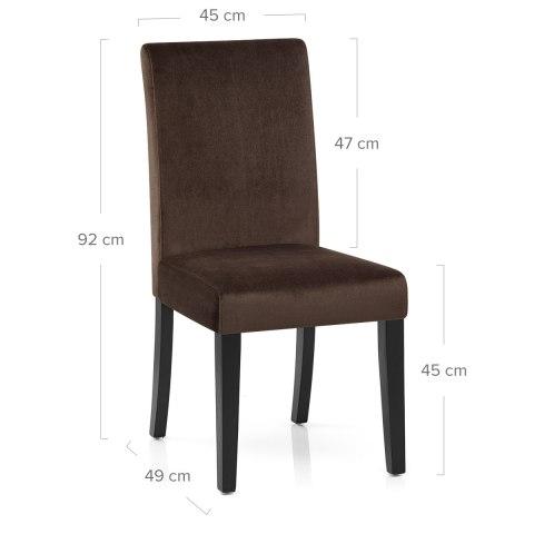 boston dining chair brown velvet atlantic shopping