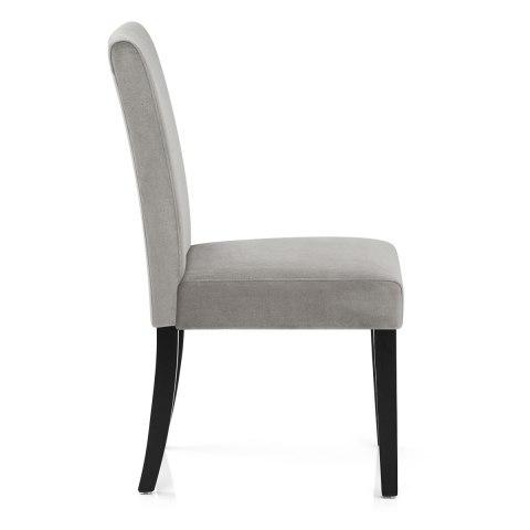Boston Dining Chair Grey Velvet Atlantic Shopping