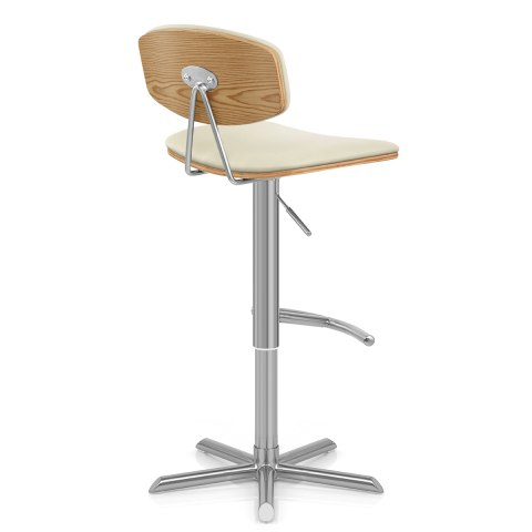 Strada Oak Bar Stool Cream