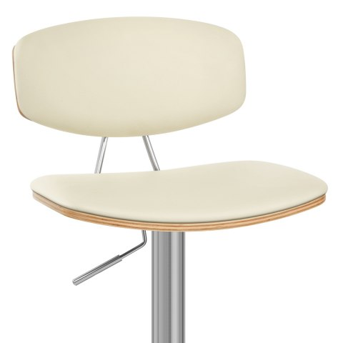 Strada Walnut Bar Stool Cream