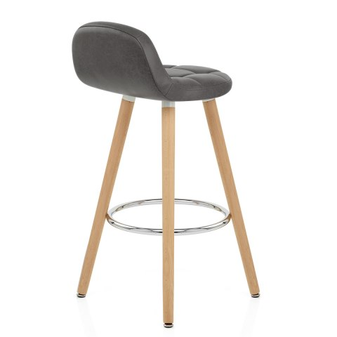 Sole Wooden Stool Grey