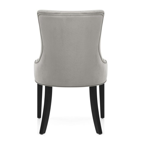 Newbury Dining Chair Grey Velvet
