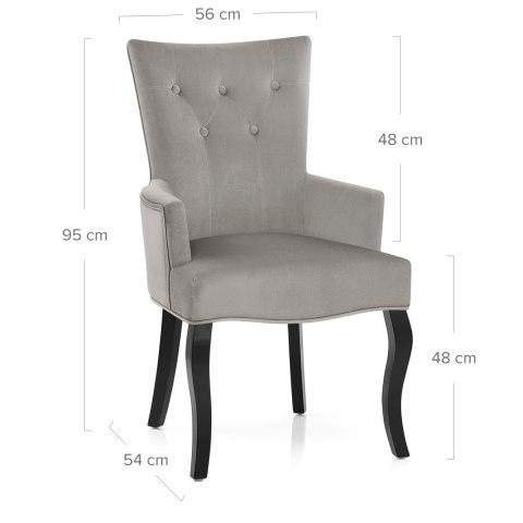 Fleur Chair Grey Velvet Atlantic Shopping