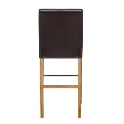 Purnell Oak Stool Brown