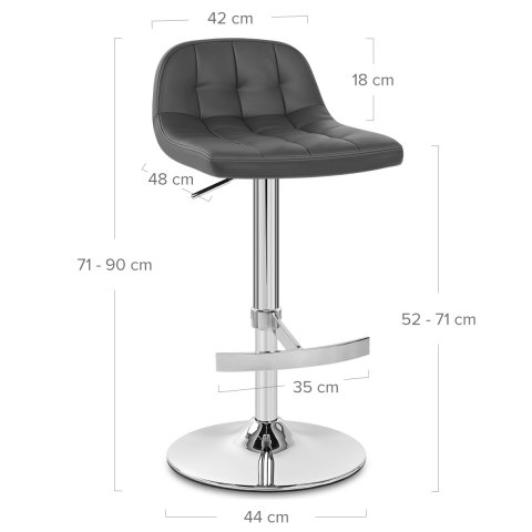 Pulse Bar Stool Grey