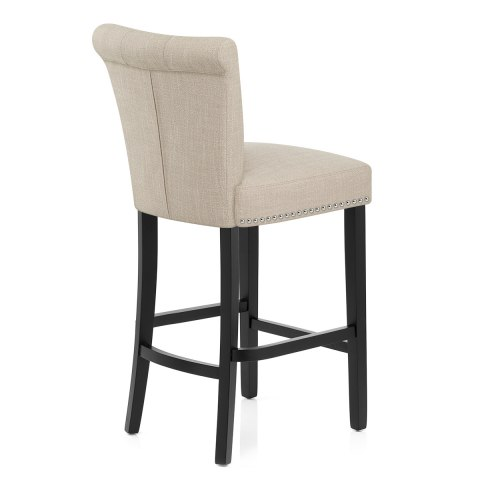 Buckingham Bar Stool Cream Fabric