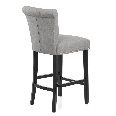 Fine Buckingham Bar Stool Grey Fabric Dailytribune Chair Design For Home Dailytribuneorg