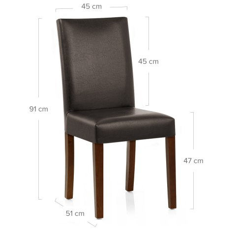 Chicago Walnut Dining Chair Brown Atlantic Shopping