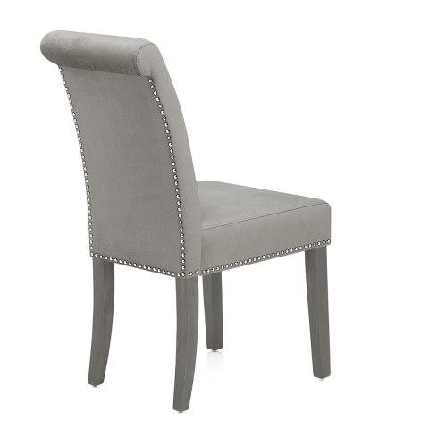 Moreton Dining Chair Grey Velvet Atlantic Shopping