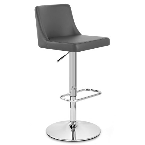 Plaza Chrome Stool Grey