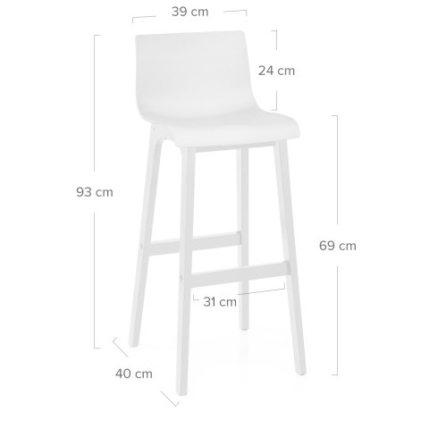 Mono Drift Bar Stool White