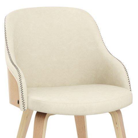 Fusion Oak Chair Cream