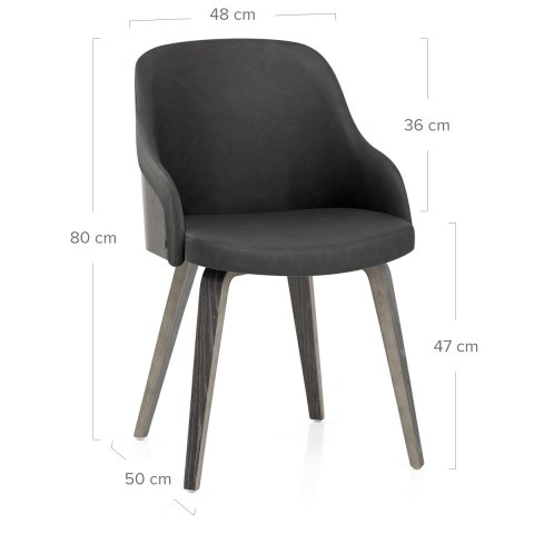 Fusion Wooden Chair Charcoal