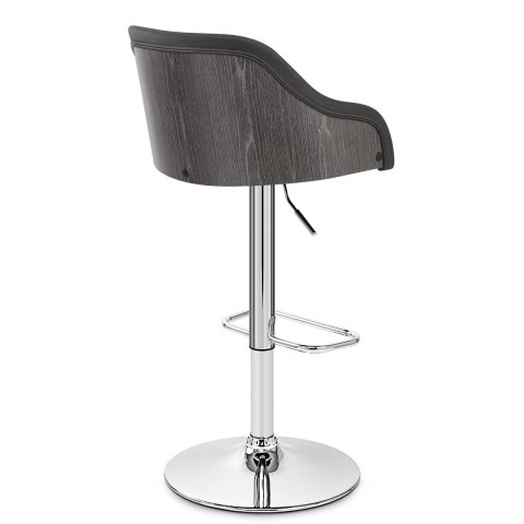 Fusion Wooden Stool Charcoal