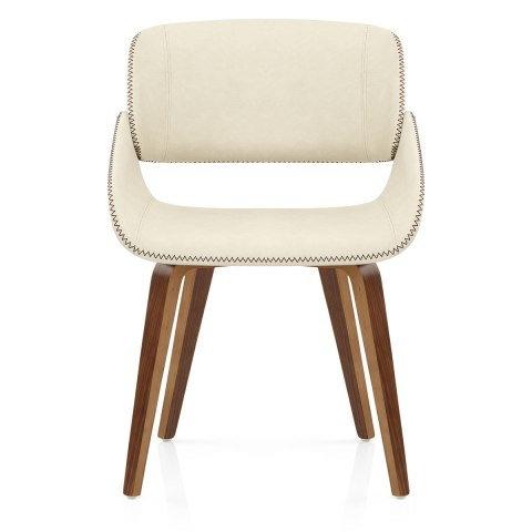 Flint Walnut Chair Cream Atlantic Shopping
