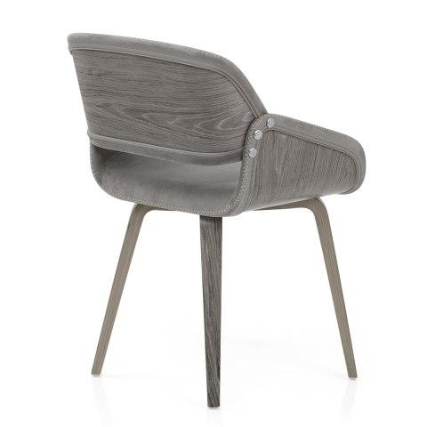 Flint Wooden Chair Grey Velvet Atlantic Shopping