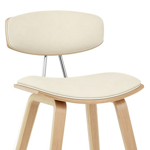 Henley Oak Stool Cream Atlantic Shopping