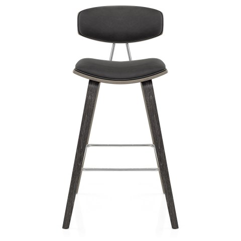 Henley Wooden Stool Charcoal