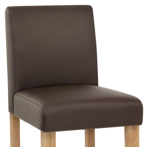 Tetbury Oak Bar Stool Brown Leather