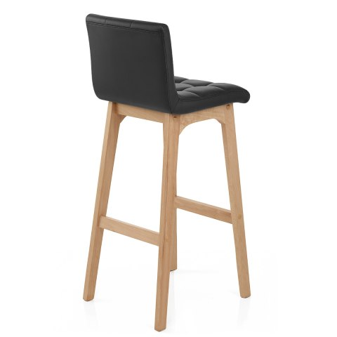 Cove Wooden Stool Black