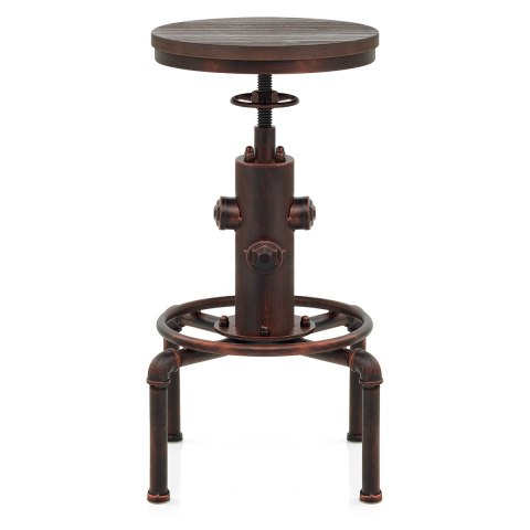 Hydrant Stool Antique Copper