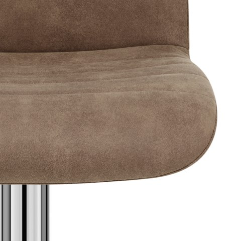 Destiny Stool Brown Suede