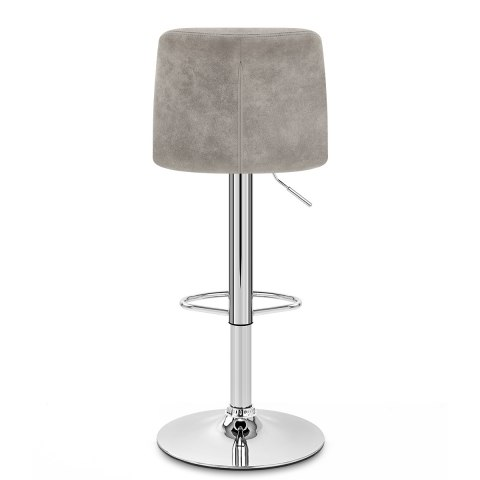 Destiny Stool Grey Suede
