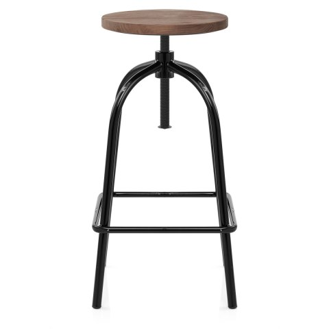 Vice Antiqued Stool Black
