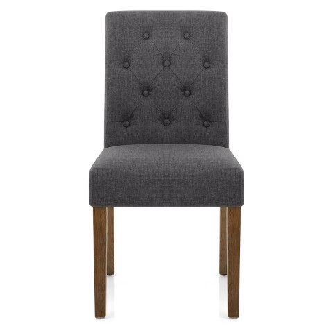 Denver Oak Dining Chair Charcoal Fabric
