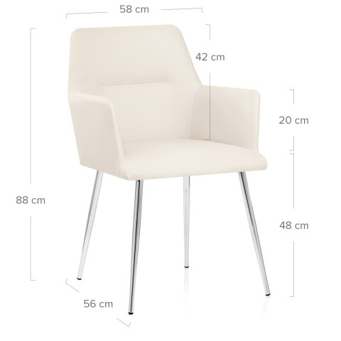 Donovan Dining Chair Cream Atlantic Shopping