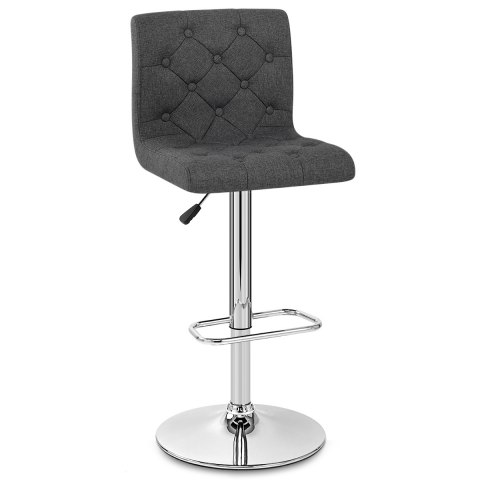 Seattle Gas Lift Stool Charcoal Fabric
