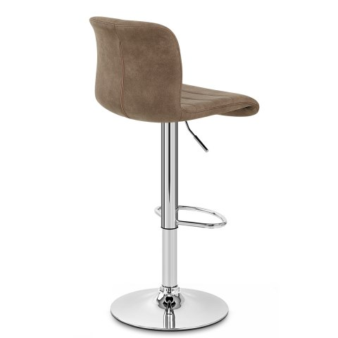 Destiny Stool Brown Suede Atlantic Shopping
