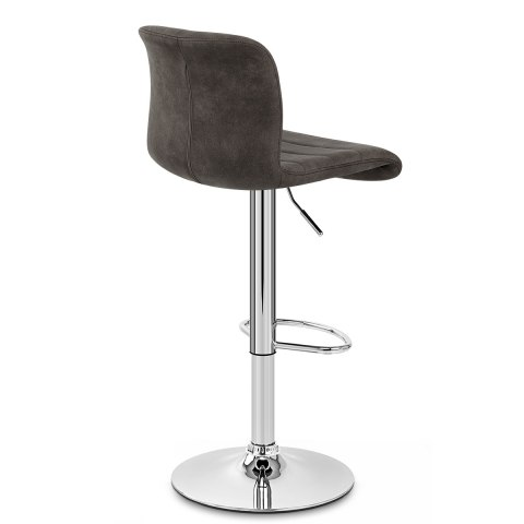 Destiny Stool Charcoal Suede