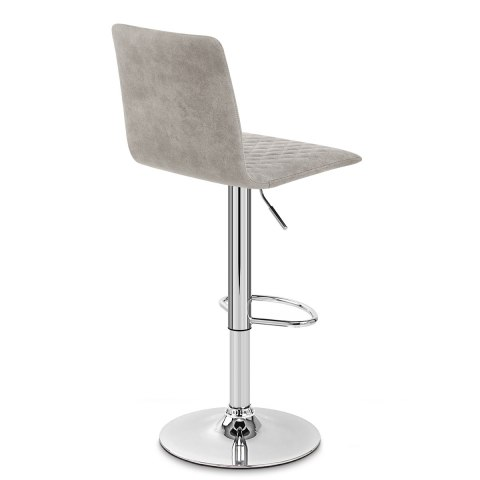Atlanta Stool Grey Suede