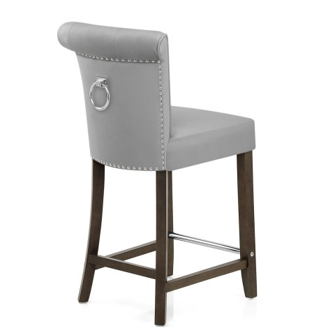 Carlton Scroll Back Stool Grey Velvet Atlantic Shopping