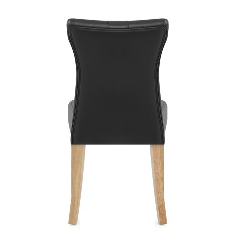 Bradbury Oak Dining Chair Black