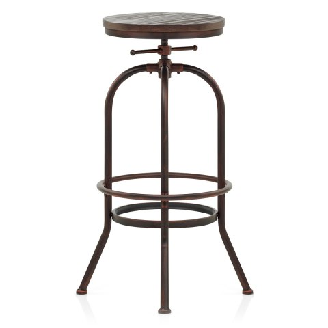 High Machinist Stool Antique Copper
