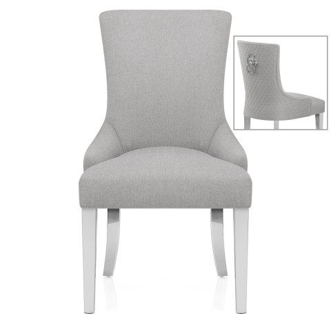 Fontaine Chair Light Grey Fabric