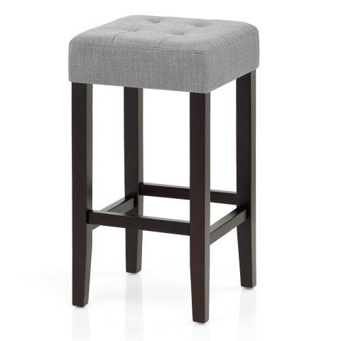 Oliver Wenge Stool Grey Fabric Atlantic Shopping