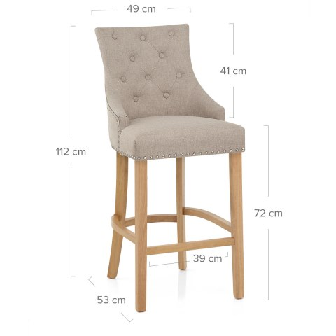 Ascot Oak Stool Tweed Fabric
