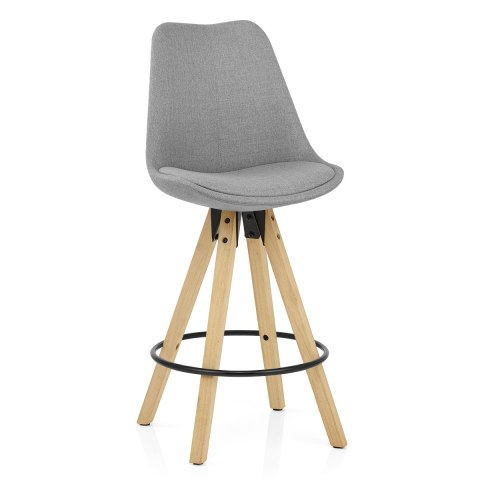 Aero Bar Stool Grey Fabric
