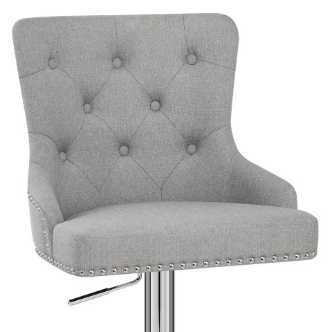 Manor Bar Stool Grey Fabric