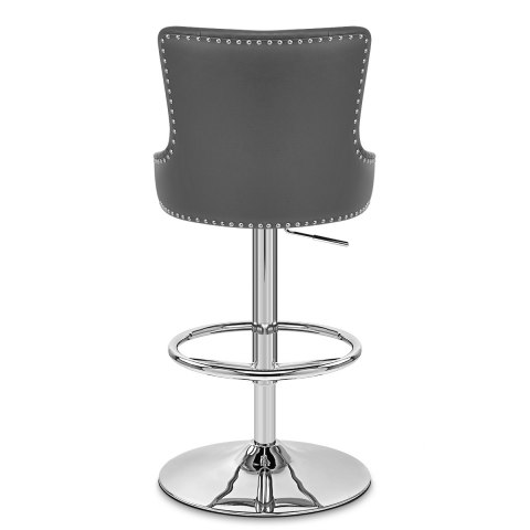 Manor Bar Stool Grey Leather