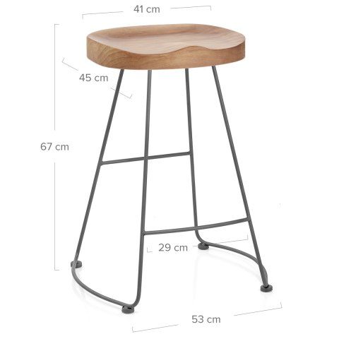 Freedom Grey Stool Light Wood