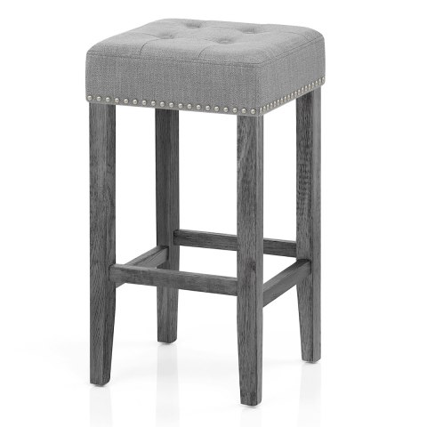 Dove Bar Stool Light Grey Fabric